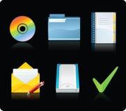 komputerowe ikony Zdjęcia Stock