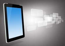 komputerowe ikony tablet wirtualnego ilustracja wektor