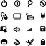 Komputerowe ikony ustawiają 01 ilustracja wektor