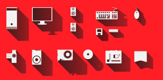 Komputerowe ikony ustawiający projekt, ilustracyjny wektor Fotografia Royalty Free