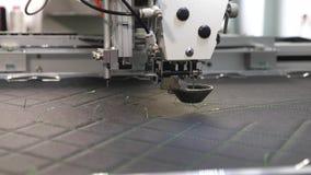 Komputerowe kontrole szwalna maszyna Robotyka pracy w krawiectwo linii produkcyjnej Robot szwalna maszyna automatycznie zbiory wideo
