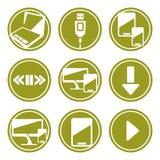 Komputerowe przyrząd ikony ustawiać ilustracja wektor