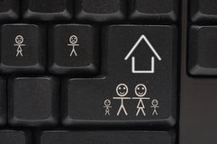 komputerowego klucza klawiaturowy uśmiech Obraz Stock