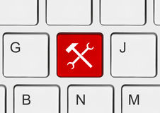 komputerowego klucza klawiatury narzędzia obrazy stock