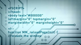 Komputerowego kodu i obwodów błękit Lite ilustracja wektor