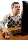 komputerowego mężczyzna senior Zdjęcia Stock