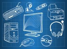 komputerowego narzędzia urządzenia peryferyjne Obraz Stock