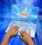 komputerowego networking ogólnospołeczny czas marnowanie Zdjęcie Royalty Free