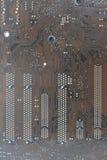 Komputerowego obwodu deski brązu wzór Fotografia Royalty Free