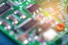 Komputerowego obwodu jednostki centralnej układu scalonego mainboard sedna procesoru elektronika przyrząd obrazy stock