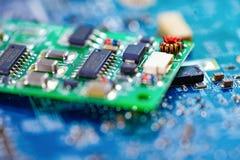 Komputerowego obwodu jednostki centralnej uk?adu scalonego mainboard sedna procesoru elektronika przyrz?d fotografia royalty free