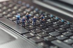 Komputerowego przestępstwa pojęcie Makro- fotografia Obrazy Stock