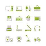 komputerowego wyposażenia ikon peryferia Zdjęcia Stock