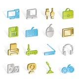 komputerowego wyposażenia ikon peryferia Zdjęcie Stock