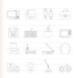 komputerowego wyposażenia ikon peryferia Obrazy Stock