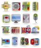 komputerowego wyposażenia ikon występ Obrazy Stock