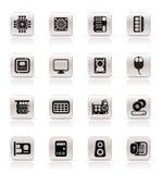 komputerowego wyposażenia ikon występ prosty Obrazy Royalty Free