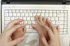 komputerowej edukaci dzieciaki Fotografia Stock
