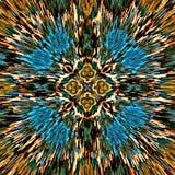 Komputerowej ilustracyjnej abstrakcjonistycznej symetrycznej psychodelicznej koloru tła mozaiki chaotyczny muśnięcie muska farb m ilustracji