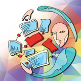KOMPUTEROWEJ kartoteki systemy zarządzania Obrazy Stock