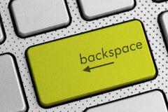 Komputerowej klawiatury backspace guzik zdjęcia royalty free