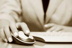 komputerowej klawiatury myszy radio Zdjęcia Stock
