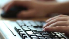 Komputerowej klawiatury w użyciu zakończenie zbiory wideo