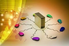 Komputerowej myszy związany serwer ilustracji
