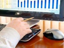komputerowej ręki klawiaturowy mężczyzna s pisać na maszynie Obrazy Stock