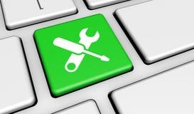Komputerowej usługa pracy narzędzi klucz Zdjęcia Royalty Free
