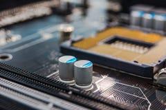 Komputerowi capacitors Zdjęcia Royalty Free