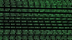Komputerowi kody biega na pokazie zdjęcie wideo