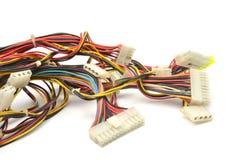 komputerowi podłączeniowi druty Fotografia Royalty Free
