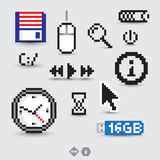 Komputerowi symbole i ikony Fotografia Stock