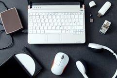 Komputerowi urządzenia peryferyjne & laptopów akcesoria Obrazy Royalty Free