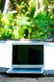 komputerowy basen laptopie kurort Obraz Stock