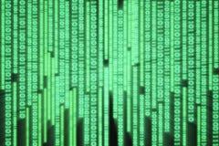 Komputerowy binarnych dane spływowy wykres fotografia royalty free