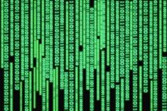 Komputerowy binarnych dane spływowy wykres fotografia stock
