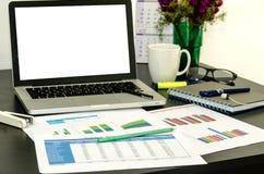 Komputerowy biurka biuro Obrazy Stock