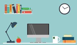 Komputerowy biurko, miejsce pracy Obrazy Stock