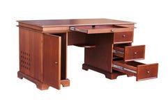Komputerowy biurko w klasycznym stylowym buku Zdjęcia Stock