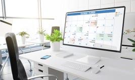 komputerowy biuro kalendarz Obraz Royalty Free