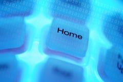 komputerowy domowy klucz Zdjęcie Stock