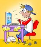 komputerowy działanie ilustracji