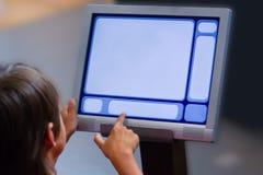 komputerowy dziecko interfejs Fotografia Stock