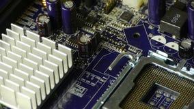 Komputerowy elektronicznego obwodu deski wirować zbiory wideo