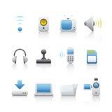 komputerowy equipament ikony set Obrazy Royalty Free