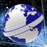 Komputerowy Globalny Reprezentuje sieć serweru I Komunikuje ilustracja wektor