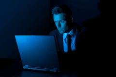 Komputerowy hacker Zdjęcia Stock