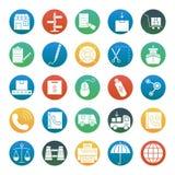 Komputerowy handel Odizolowywać myszy Wektorowe ikony ustawiać składać się z z budynkiem, wykresem, drużyną, dolarem, Odosobniony ilustracja wektor